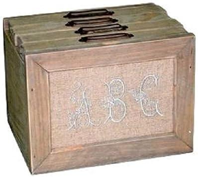 Better & Best Caja de Fotos de 4 Cajones con Diseño Letras ABC, Madera y Algodón, Beige, 18x14x13.5 cm: Amazon.es: Hogar