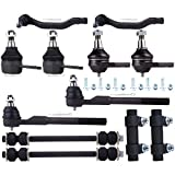 ECCPP Ball Joints Tie Rod End Adjusting Sway Bar Complete Assembly for 2000-2001 Dodge Ram 1500 RWD (12Pcs)