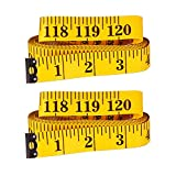 SAMLOO 2pcs 120 Inch / 300CM Double-scale Soft Tape Measure for Sewing Tailor Craft Dressmaker Cloth Flexible Ruler