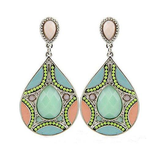 Elakaka Women's Beads Pattern Resin Droplets (Edwardian Costumes For Sale Uk)