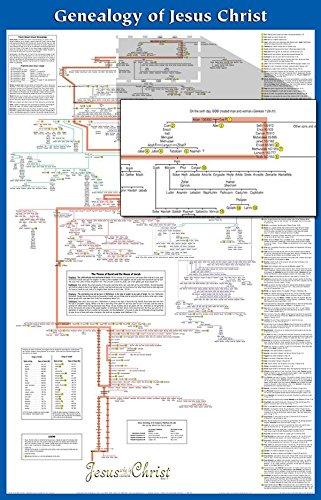 Jesus Laminated - Genealogy of Jesus Laminated Wall Chart