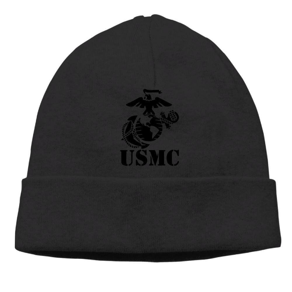 Eagle Globe Anchor USMC Marine Corps Men Women Knit Hat Hedging Hat Unisex Autumn//Winter Cap