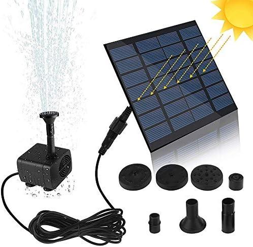 Irfora Solarpanel Mini Solarbrunnenpumpe Solarwasserpumpe Power Panel Kit Solarpanel Wasserpumpe für Gartenpool
