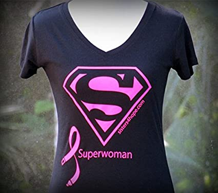 dc023006 Amazon.com : Breast Cancer Superwoman T-shirt (V-neck) : Everything Else