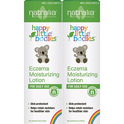 Moisturizing Moisturizer Happy - Natralia Happy Little Bodies, Eczema Moisturizing Lotion, 6 Ounce Tube (Pack of 2)