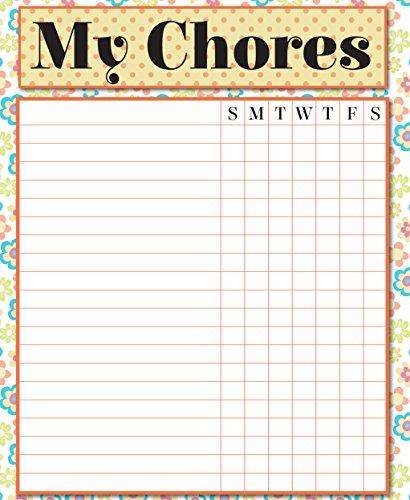 Magnetic Chore Chart - Dry Erase Responsibility Chart - 14x17 Job Chart Family Planner - To Do List Whiteboard Magnet For Fridge - Family Organization Board - Chart Family