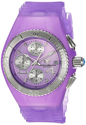 Technomarine Women's 'Cruise' Quartz Stainless Steel and Silicone Casual Watch, Color:Purple (Model: TM-115360)
