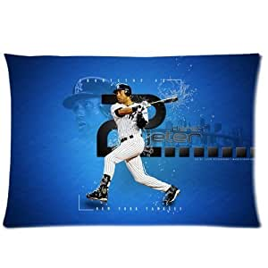 Miniwin Derek Jeter New York Yankees Baseball Custom Pillowcase Cover Two Side Picture Size 16x24 Inch
