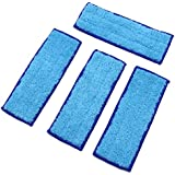 PGCOKO 4 Pack Washable Reusable Wet Mopping Pads for iRobot Braava Jet 240 241