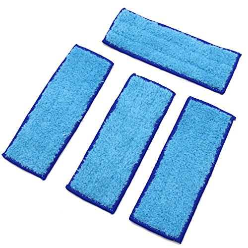 PGCOKO 4 Pack Washable Reusable Wet Mopping Pads for iRobot