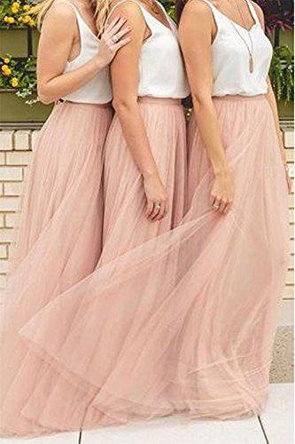 premium selection e3740 4e41c Omela Damen Langer Tüllrock 3 Lagen Tüll Maxiröcke Elegante Hochzeit Röcke