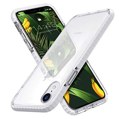 MATEPROX iPhone XR Case Clear Thin Slim Anti-Yellow Anti-Slippery Anti-Scratches Cover Shockproof Bumper Case for iPhone XR 6.1''(White)
