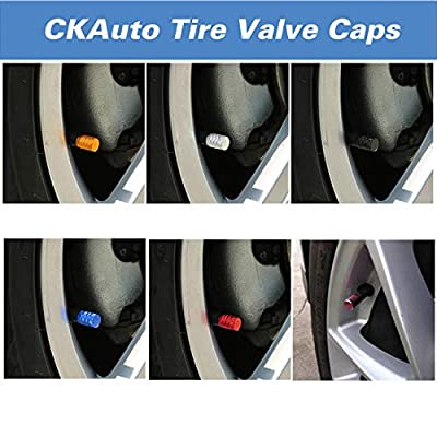 Tire Valve Stem Caps, Black, 4 pcs/Pack, Anodized Aluminum Tire Valve Cap Set, Corrosion Resistant, Universal Stem Covers for Cars Trucks Motorcycles SUVs and Bikes: Automotive