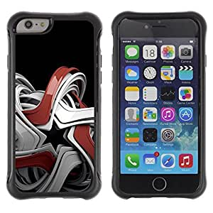 Suave Caso Carcasa de Caucho Funda para Apple Iphone 6 Abstract Geometry / JUSTGO PHONE PROTECTOR