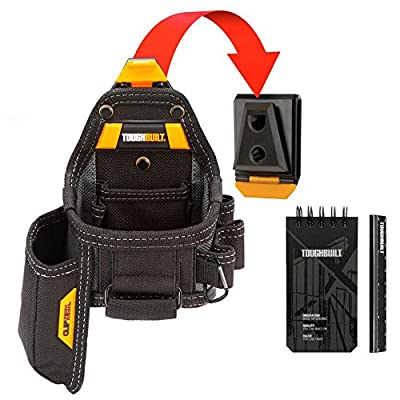 Toughbuilt Tape Measure / Utility Knife Pouch + Notebook & Pencil, TB-CT-25X