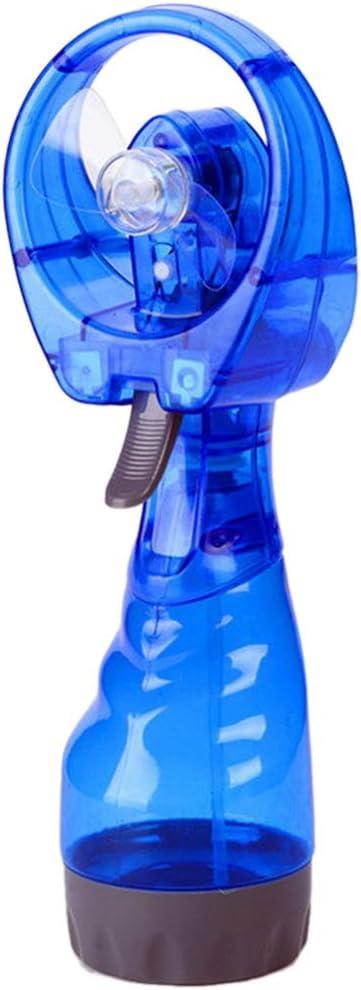 Adarl Portable Misting Fan, Water Spray Handheld Fan Battery Powered, Personal Cooling Fan with Humidifier Spray Bottle for Outdoor,Blue