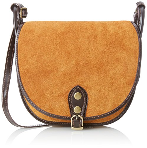 Orange Woman's CTM Small genuine Shoulder in Cuoio Italy in Bag 26x23x8 made Cm leather Clutch OOwWrqdp4