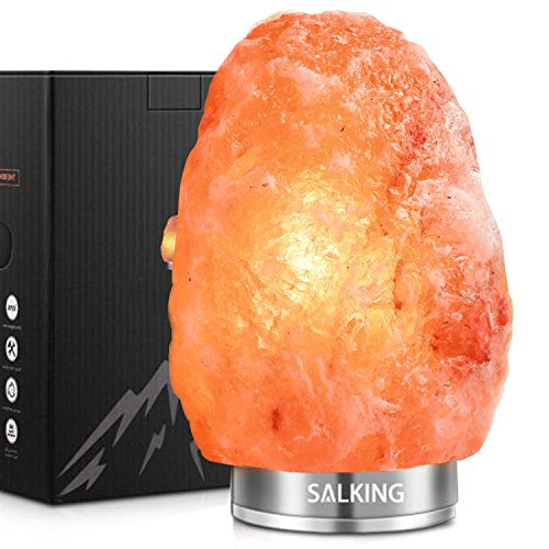 Arvidsson Himalayan Salt Lamp, Natural Hymalain Pink Rock Salt Lamps with Upgraded Touch Dimming Base, Hymilian Sea Salt Crystals Night Light (5-7lbs), 2 Bulbs by Arvidsson