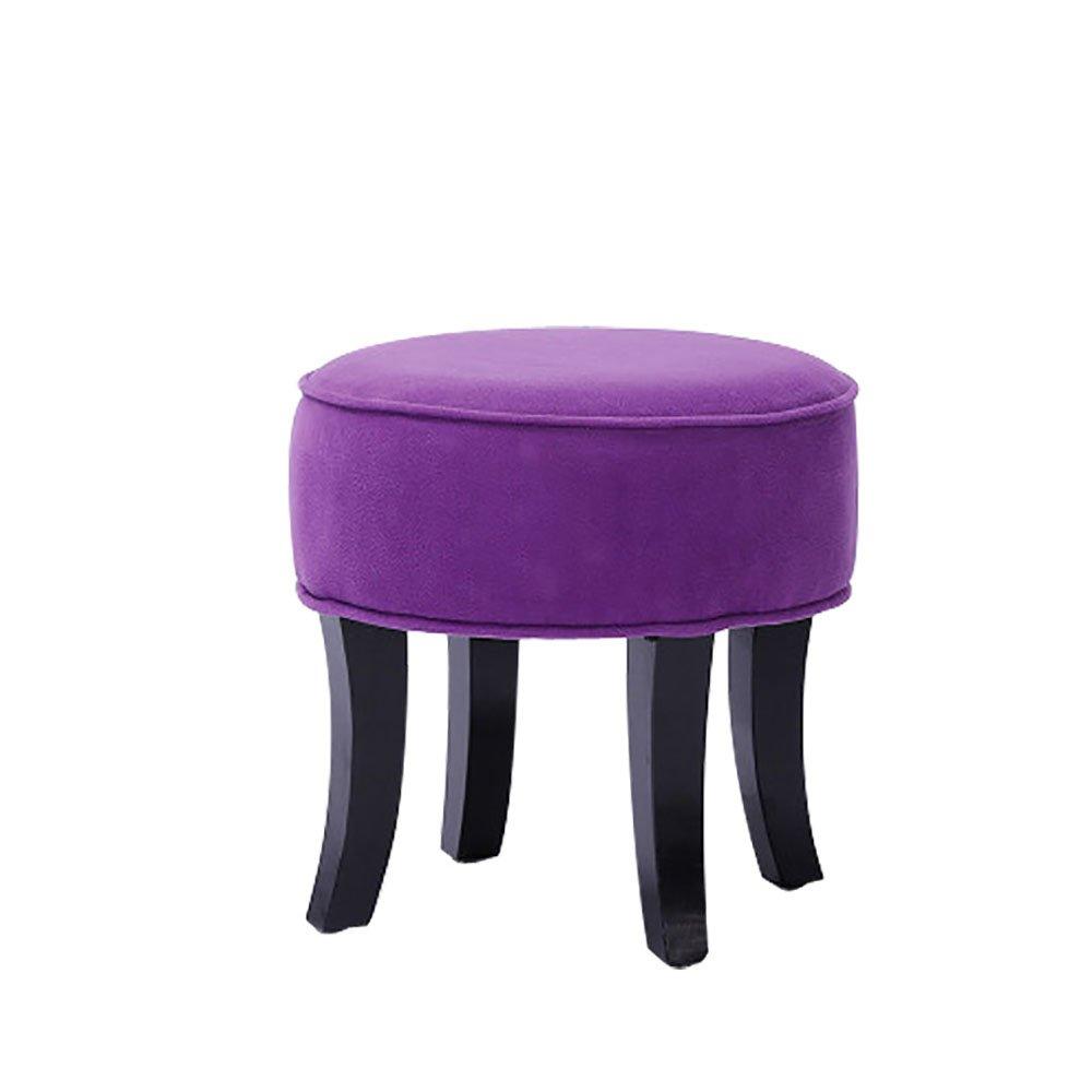 XRXY クリエイティブな布のフットスツール/ソリッドウッドのリビングルームソファースツール/シンプルな小さなベンチ/チェンジスツールスツール(5色展開) ( 色 : D ) B079GLYVPYD