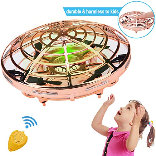 Flying Ball Drone, RC Flying Ball Toy, Hand Operated Helicopter Drones for Kids or Adults, Flying Toys with 2 Speed Auto-Avoid Obstacles 360