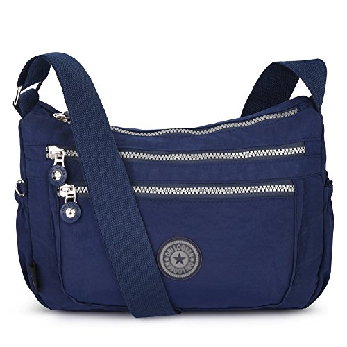 Vbiger Shoulder Bags Messenger Handbags Multi Pocket Waterproof Crossbody Bags (Dark Blue)