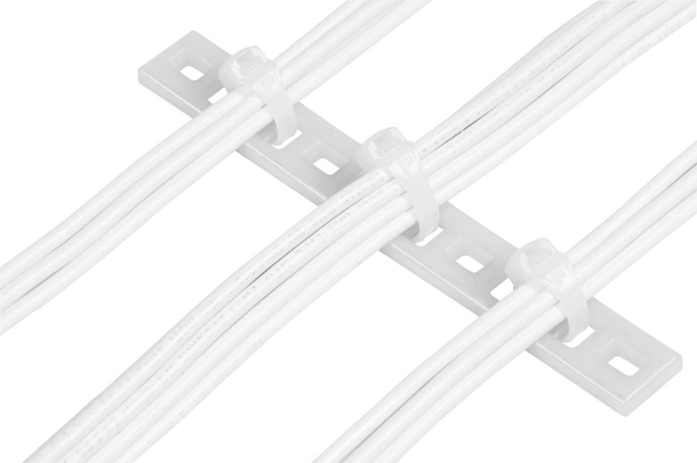 Panduit MTP6H-E6-C Multiple Tie Plate, #6 Screw, Nylon 6.6, 6 Bundlesh (100-Pack) by Panduit