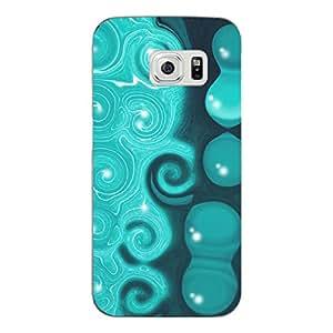 "Disagu Design Protective Case para Samsung Galaxy S6 Edge Funda Cover ""Turquoise wave"""