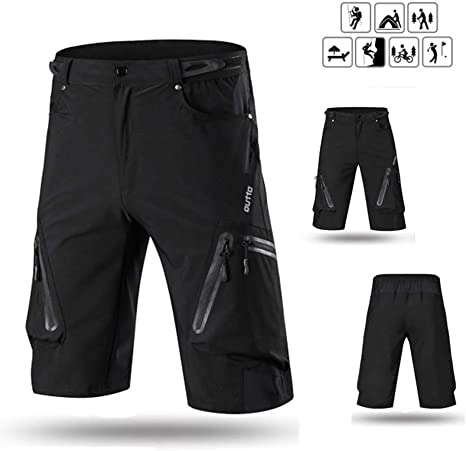 QZH Pantalones Cortos de Bicicleta de montaña Transpirables y ...