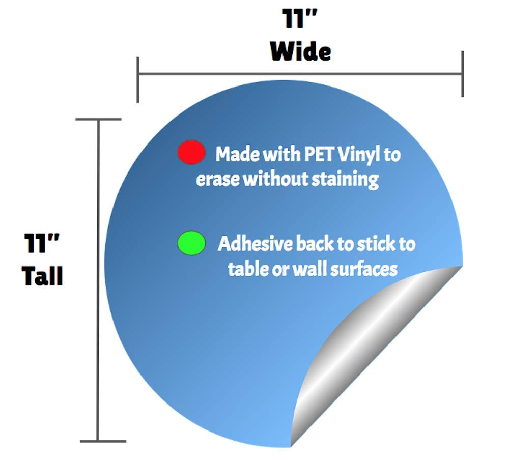 Amazon.com: Classroom Coach - Juego de adhesivos circulares ...