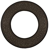 Ekena Millwork CM13BLBZS 13 3/8'' OD X 7 1/2'' ID X 3/4'' P Jet Blackthorn Ceiling Medallion fits Canopies up to 7, Bronze