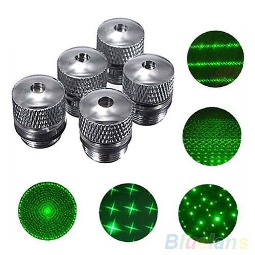 (TopOne 5 Style Pattern Converter Light Refraction Head for Green Red Blue Laser Pointer 1)