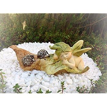 Miniature Dollhouse FAIRY GARDEN Sleeping Baby In Cauldron Accessories