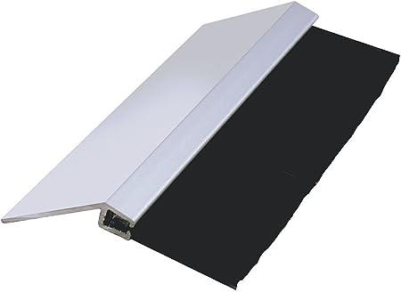 Black Nylon Brush; 3.0 Brush x 1.0 Holder JaCor Heavy-Duty Brush Seal; Clear Aluminum 45degree Holder 45deg x 96 Long