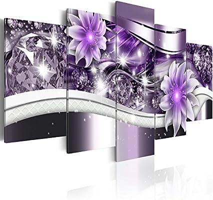 Amazon.com: Abstract Purple Flower Painting Artwork ...