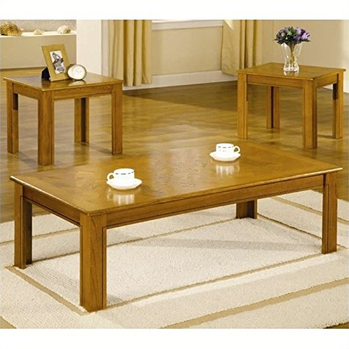 BOWERY HILL 3 Piece Occasional Table Set in Natural Oak ()