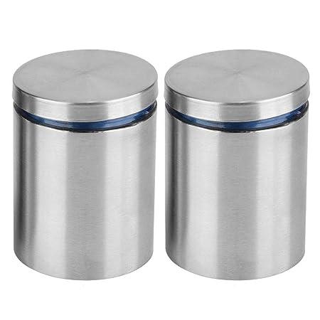 50 mm 2 unids acero inoxidable publicidad pernos de fijaci/ón de vidrio hueco Standoff pernos de montaje 40