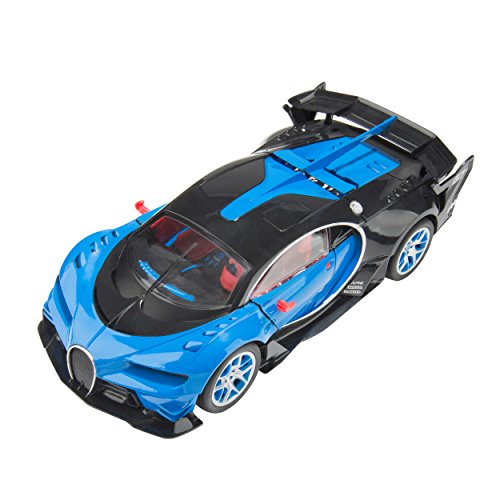 Blue Block Factory BLUEBLOCK 1:14 Scale Remote Control RC Speedy European GT Series Style Sports Super Car Racer with Flashing Lights and Graphics, for Boys and Girls, Ages 3+