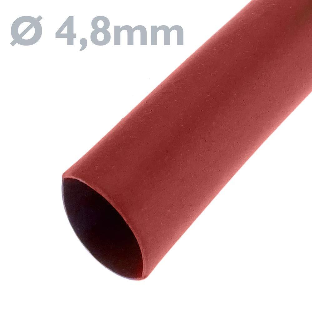 Tubo termoretr/áctil Rojo de 4,8mm en Bobina de 3 Metros BeMatik