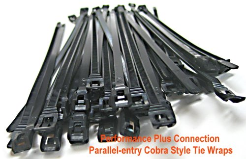 """Nylon Parallel-entry Cobra Style Tie Wraps 7.5"""" 50 Pack by Performance Plus Connection"""