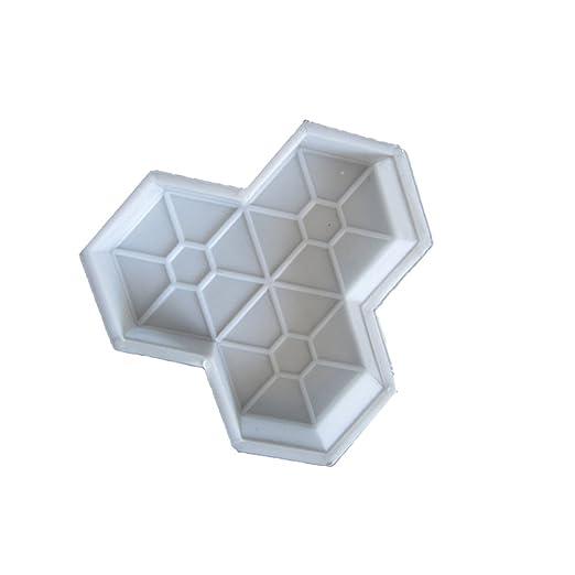 BESTOMZ DIY Molde para Cemento, Molde para Hormigón, Molde de Piedras de Pavimento Hacer Pavimentos/Caminos/Suelos de Jardín, Patio, Balcón, Terraza, ...