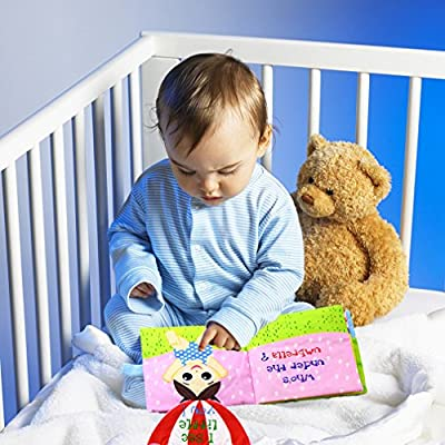 Kingtree Baby Cloth Book First Year, Soft Fabric Book for Infants, Premium Nontoxic Crinkle Books Early Educational Cognition Toy for Toddlers: Toys & Games