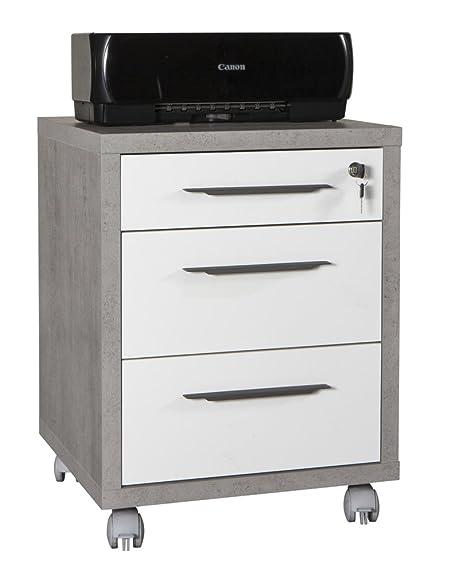 Composad Cassettiere per ufficio con 3 cassetti e ruote di colore ...