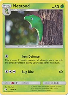 product image for Pokemon Metapod 2/149 Sun & Moon Base Set Cards