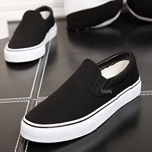 Estilo Yananhome Hombre alpargatas Casual Brown Size Lona De Planos Zapatos Casuales color 42 Pedal Coreana Tendencia Black Para ArFqw8xA