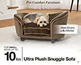 Enchanted Home Pet Ultra Plush Snuggle Bed, 26.5 by 16 by 16-Inch, Black Basket
