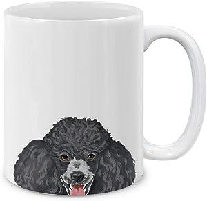 MUGBREW Black Standard Poodle Ceramic Coffee Mug Tea Cup, 11 OZ