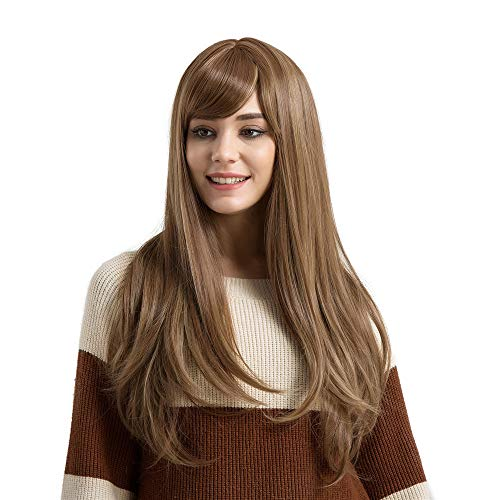 Curly Long Wig | Inkach Womens Synthetic Wavy