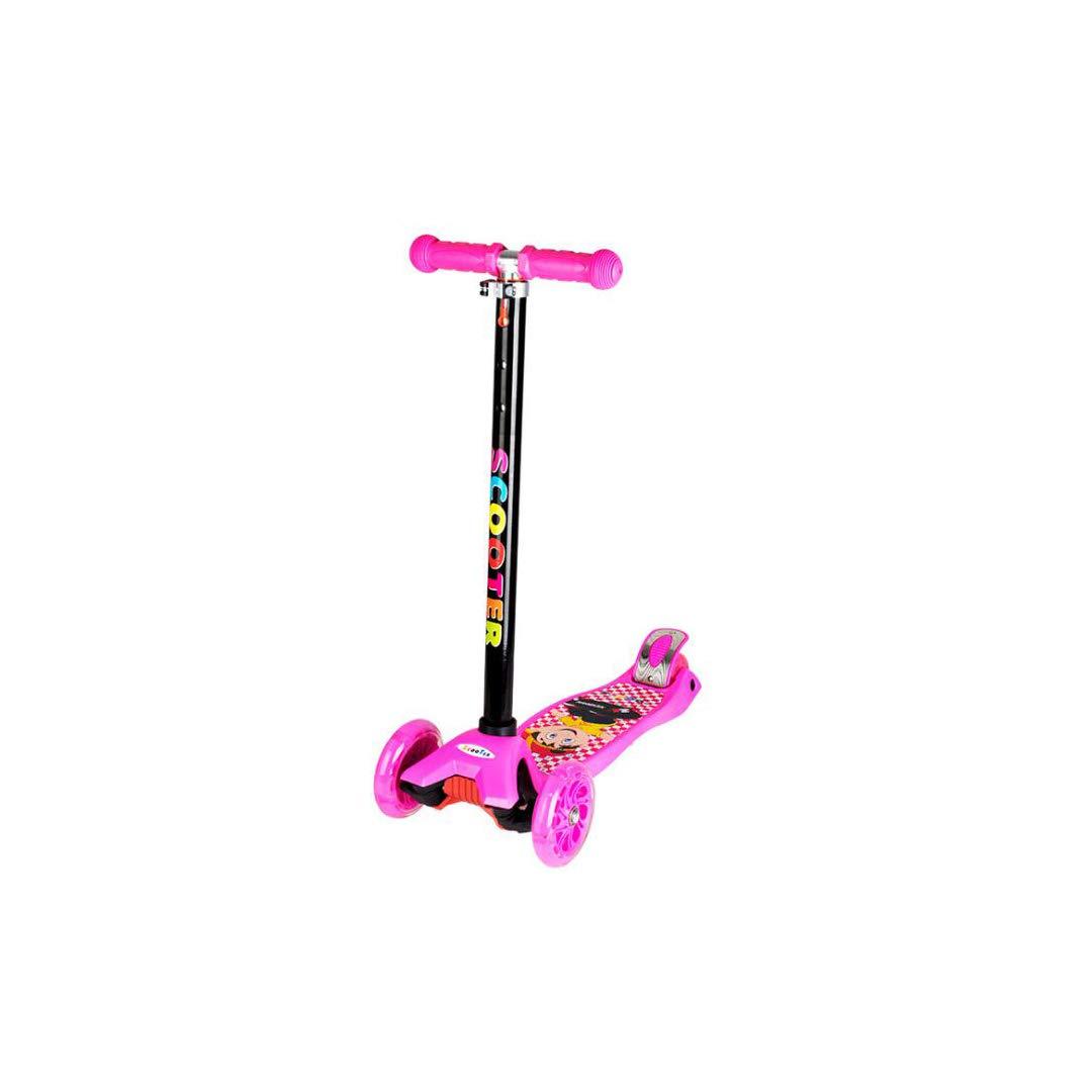 代引き手数料無料 TLMYDD Pink 子供のスクーター取り外し可能な調整可能なギア四輪点滅リフトスライディングブロックパドル車ベビーカー 子供スクーター (色 : (色 : 黒) B07NMFGHLX Pink Pink, 自転車のトライ:c18f7bb3 --- a0267596.xsph.ru