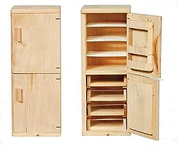 Melody Jane casa delle bambole FRIGO CONGELATORE grezzo legno grezzo ...