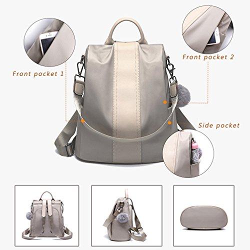 Lightweight theft Waterproof Backpack Black2 Girls for Purse School Rucksack Women Anti Bags Shoulder LoZoDo tZXqw065